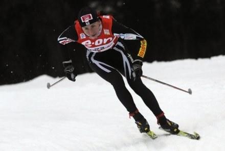 Justyna Kowalczyk zajęła w sobotę piąte miejsce /AFP