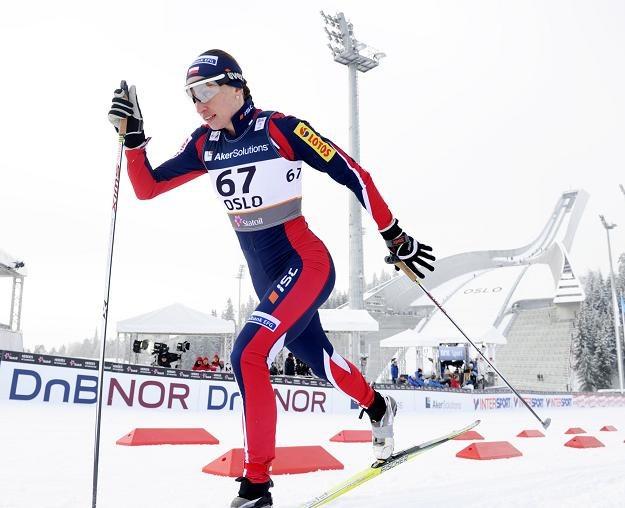 Justyna Kowalczyk zdobyła srebrny medal w biegu na 10 km techniką klasyczną ze startu indywidualnego /PAP