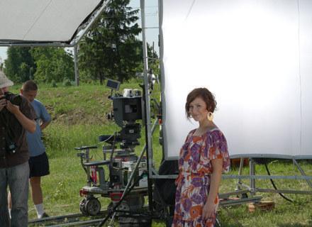 Justyna Kozłowska na planie teledysku /