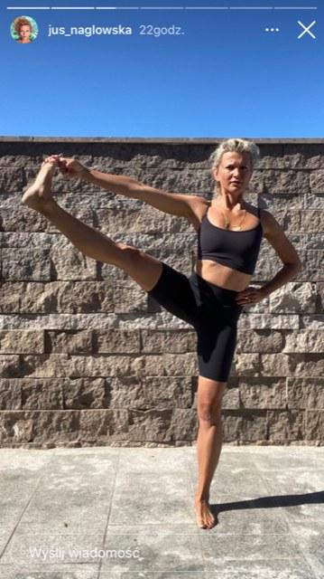 Justyna Nagłowska ćwiczy jogę (https://www.instagram.com/jus_naglowska/) /Instagram