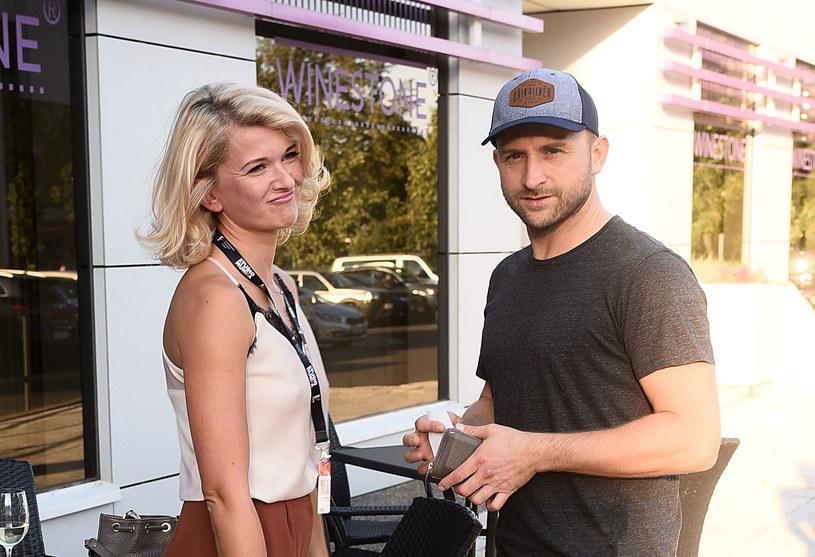 Justyna Nagłowska i Borys Szyc. Gdynia. /Andras Szilagyi /MWMedia