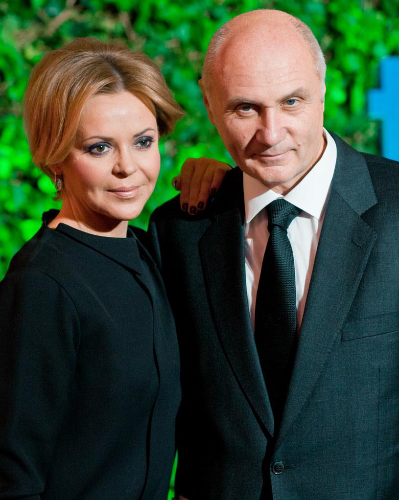 Justyna Pochake z mężem /Marcin Dlawichowski /Agencja FORUM