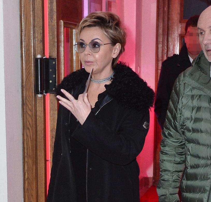 Justyna Pochanke pojawiła się na salonach z mężem u boku /Jarosław Antoniak /MWMedia