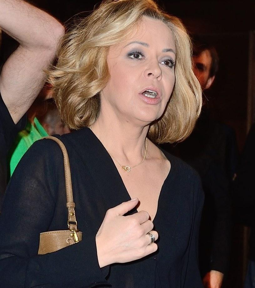 Justyna Pochanke przed odejściem z TVN /Jaroslaw Antoniak /MWMedia
