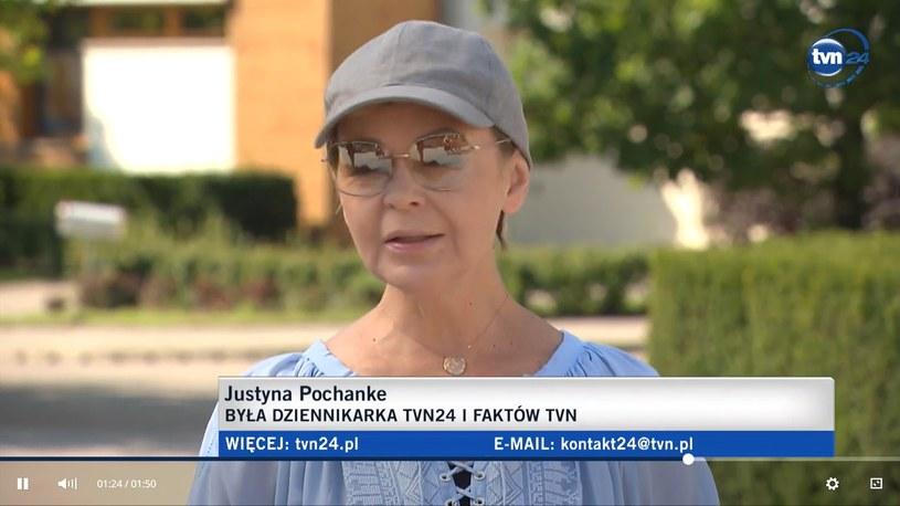 Justyna Pochanke /Screen:tvn24.pl/ /materiał zewnętrzny