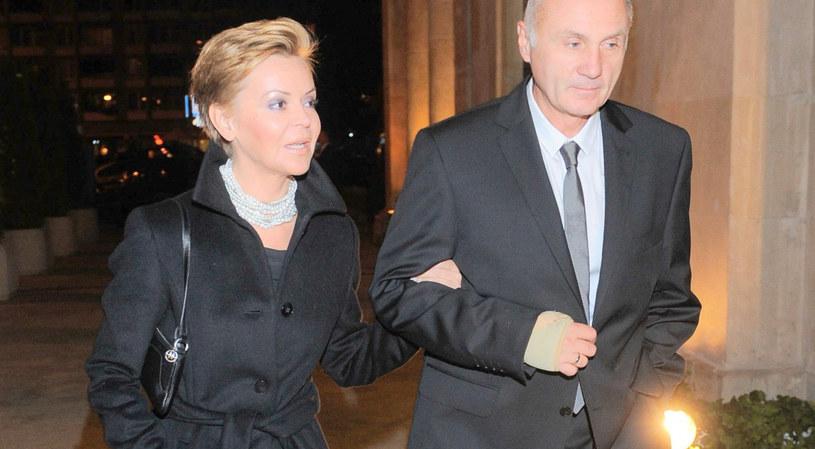 Justyna Pochanke z mężem /TRICOLORS/EAST NEWS /East News