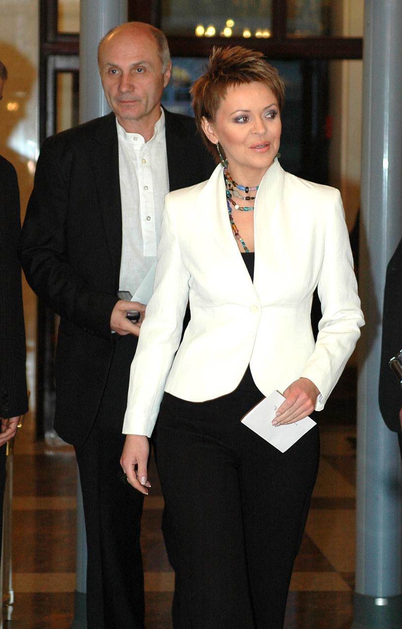 Justyna Pochanke z mężem /Andras Szialgyi /MWMedia