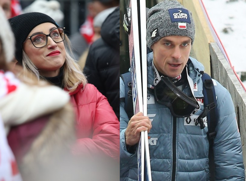 Justyna przyszła dopingować męża? /Damian Klamka /East News