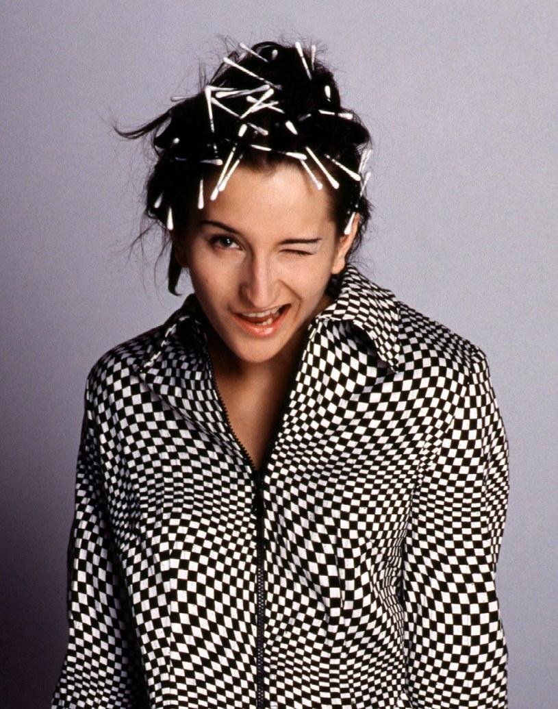 Justyna Steczkowska - 1996 r. /Andrzej Hrechorowicz /Agencja FORUM