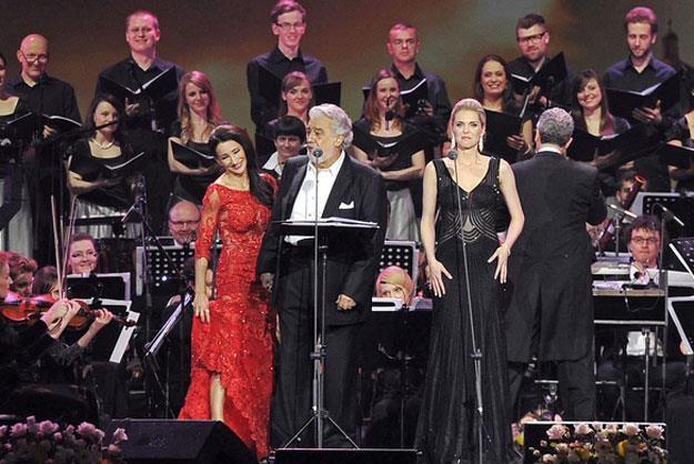 Justyna Steczkowska podczas koncertu z Placido Domingo /AKPA