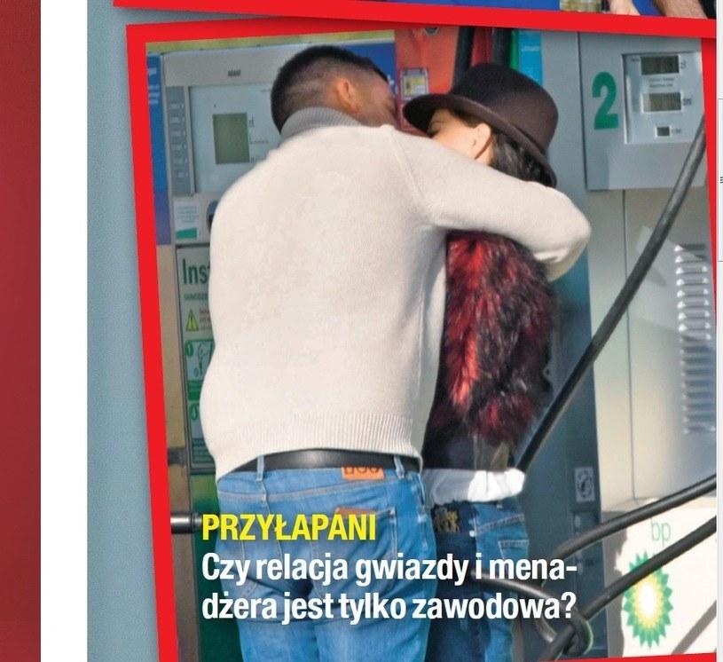 Justyna Steczkowska przyłapana na czułościach z menedżerem /Na żywo