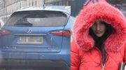 Justyna Steczkowska w czerwonym futerku kupuje łakocie