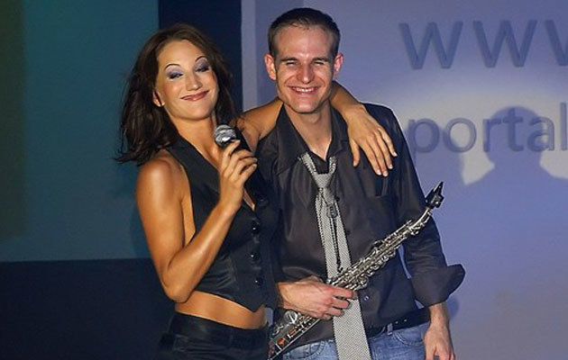 Justyna Steczkowska z bratem, fot. Digital  /East News