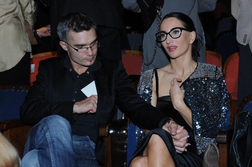 Justyna Steczkowska z mężem /Andras Szilagyi /MWMedia