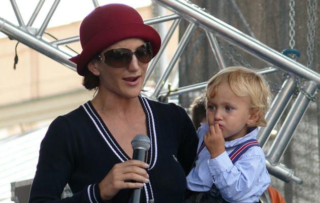 Justyna Steczkowska z synem Stasiem, fot. Tomek Piekarski  /MWMedia