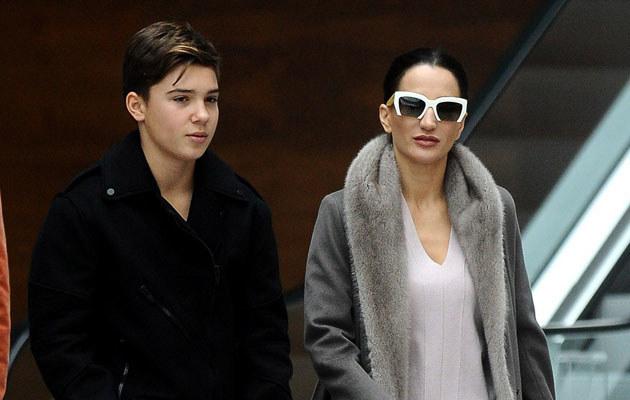 Justyna Steczkowska z synem /Mateusz Jagielski /East News