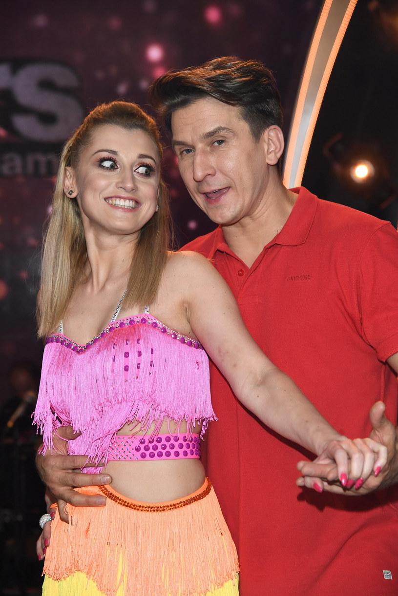 """Justyna Żyła i Tomasz Brański w """"Dancing with the Stars"""" /Mateusz Jagielski /East News"""