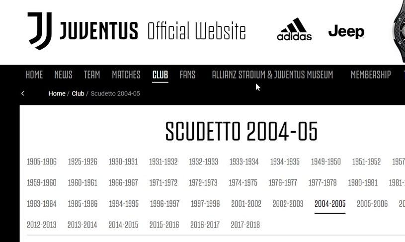 Juventus Turyn przyznaje się do dwóch tytułów - za sezony 2004-2005 i 2005-2006, które zostały mu odebrane w związku z aferą ustawiania meczów. /