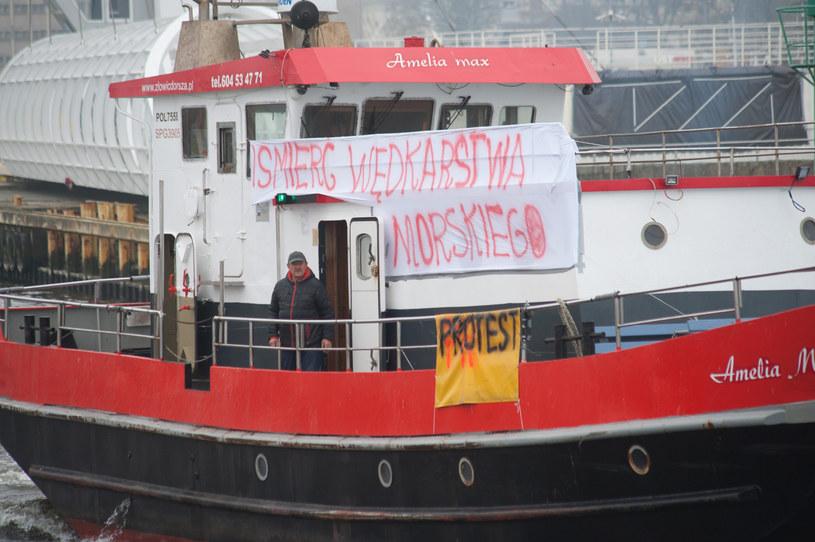 """Już w listopadzie armatorzy """"próbnie"""" protestowali w portach. Na zdjęciu port w Ustce. /Hubert Bierndgarski/REPORTER /East News"""