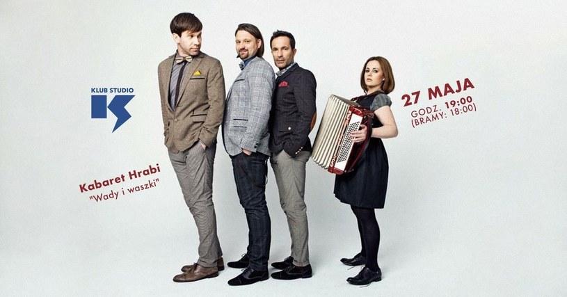 Kabaret Hrabi wystąpi w klubie Studio 27 maja /materiały prasowe
