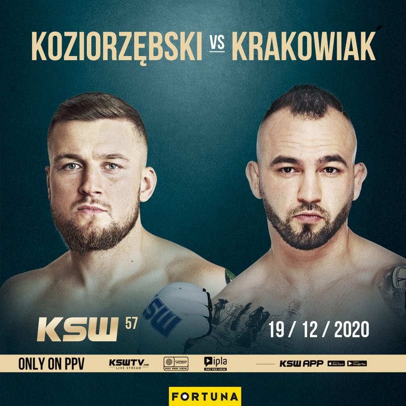 Kacper Koziorzębski zmierzy się z Marcinem Krakowiakiem na KSW 57 /KSW /Informacja prasowa