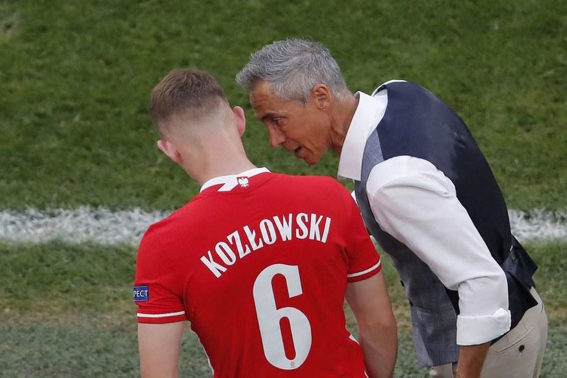 Kacper Kozłowski, którego Paulo Sousa wpuszcza na mecz ze Szwecją na Euro 2020. /AFP