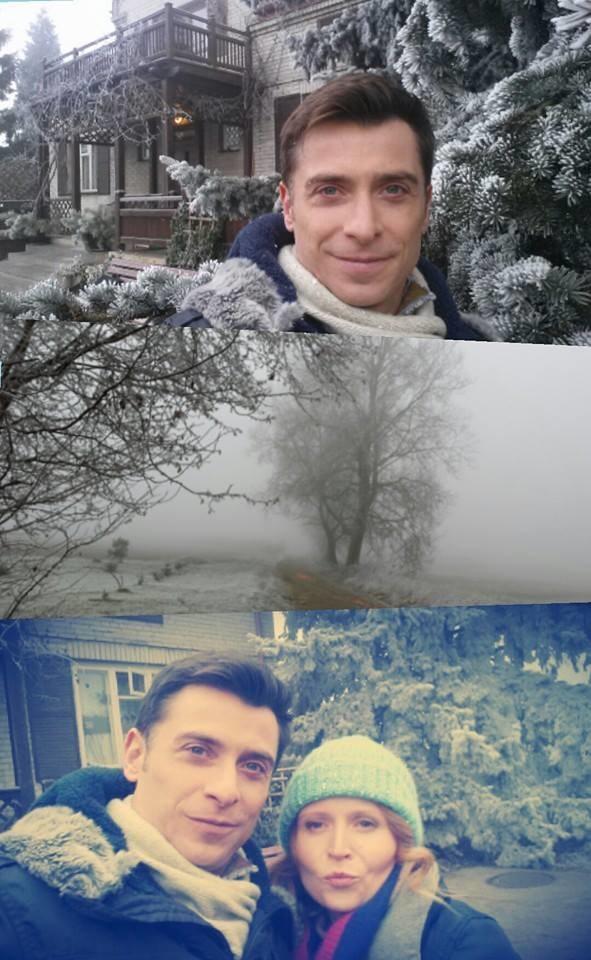 """Kacper Kuszewski na swoim Facebooku umieścił zdjęcie z planu """"M jak miłość"""", na którym widzimy zdrową Ewę (Dominika Kluźniak). /Facebook /internet"""