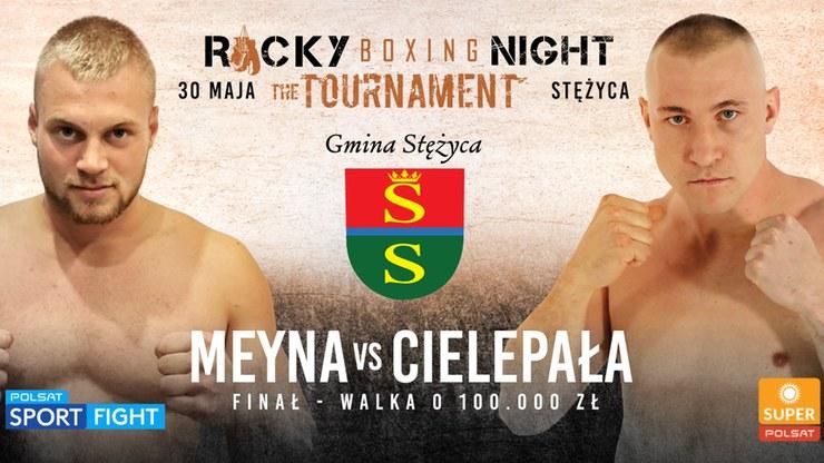Kacper Meyna faworytem ekspertów w wielkim finale Polskiego Turnieju Wagi Ciężkiej /Polsat Sport