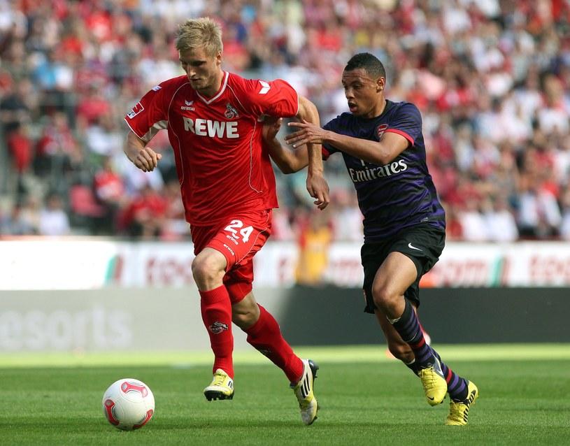 Kacper Przybyłko (w czerwonym stroju) tu jeszcze w barwach FC Koeln /AFP