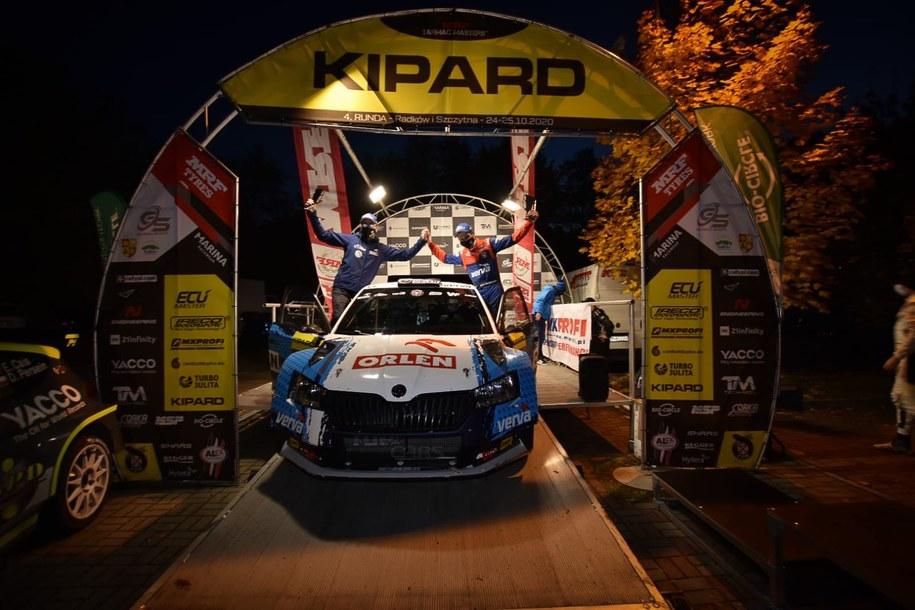Kacper Wróblewski i Jakub Wróbel ukończyli 2. Kipard Rally na trzecim miejscu /Materiały prasowe