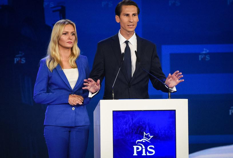 Kacpra Płażyńskiego w kampanii wspiera żona Natalia Nitek-Płażyńska /Jacek Dominski/ /Reporter