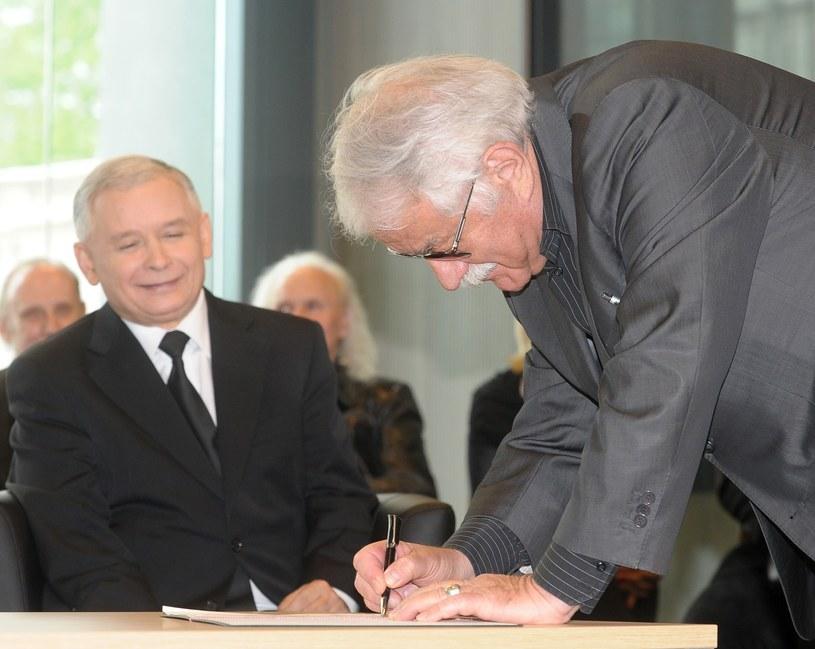 Kaczyński i Pietrzak /- /East News