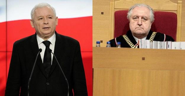 Kaczyński i Rzepliński nie pałają do siebie sympatią /Sławomir Kamiński/Dawid Zuchowicz /