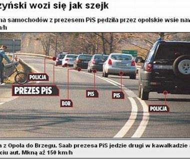 Kaczyński pędził 150 km/h!