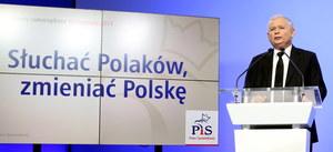 Kaczyński zaprezentował hasło wyborcze PiS
