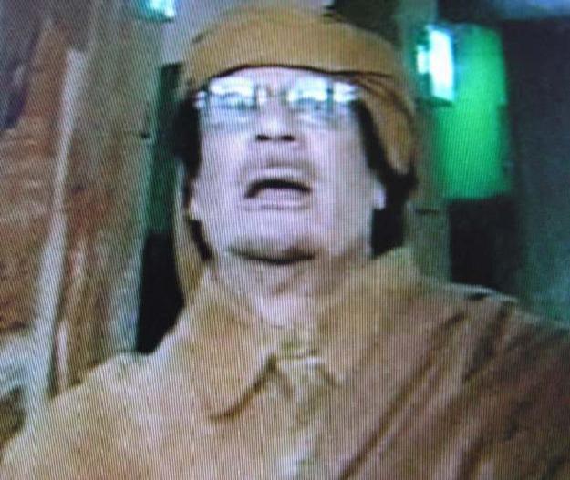 Kadafi przemawia w libijskiej telewizji /INTERIA.PL