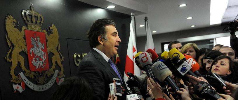 Kadencja Saakaszwilego kończy się jesienią tego roku /VANO SHLAMOV /AFP
