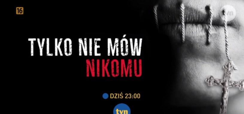 """Kadr reklamujący emisję """"Tylko nie mów nikomu"""" w telewizji TVN (screen ze strony TVN) /materiały prasowe"""