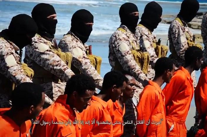 Kadr wideo opublikowanego dziś przez IS /AFP