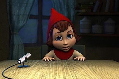 """Kadr z filmu """"Czerwony Kapturek - prawdziwa historia"""" /"""