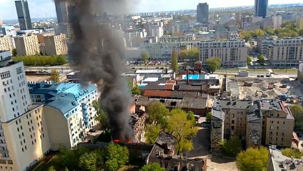 Kadr z filmu nadesłanego przez mieszkańca Warszawy na Kontakt24 /