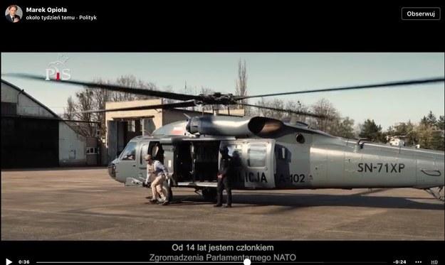 Kadr z kontrowersyjnego spotu posła Opioły /