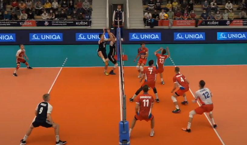 Kadr z meczu Czechy - Polska /YouTube /