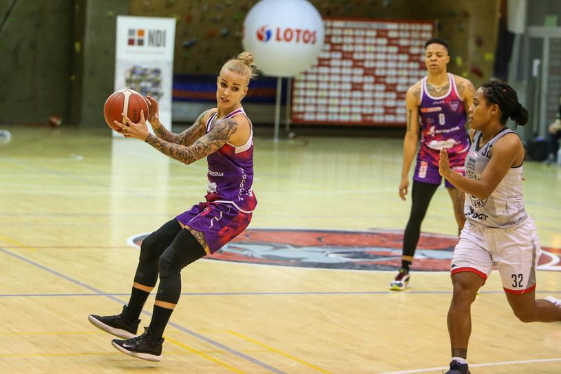 Kadr z meczu DGT AZS Politechnika Gdanska - KS Basket 25 Bydgoszcz /TOMASZ RULSKI / 058sport.pl/ /Newspix