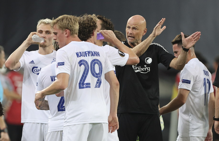 Kadr z meczu FC Kopenhaga - Manchester United w Lidze Europy /PAP/EPA/Wolfgang Rattay / POOL /PAP