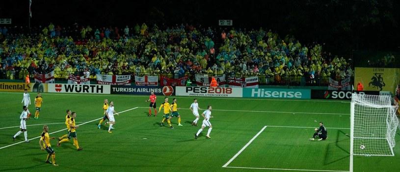 Kadr z meczu Litwa - Anglia w eliminacjach do MŚ 2018 /AFP