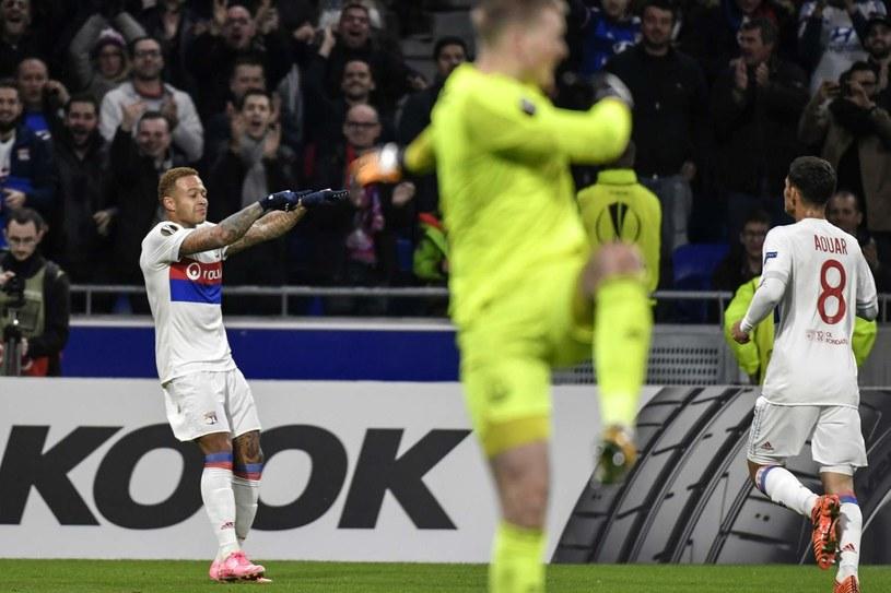 Kadr z meczu Olympique Lyon - Everton /AFP
