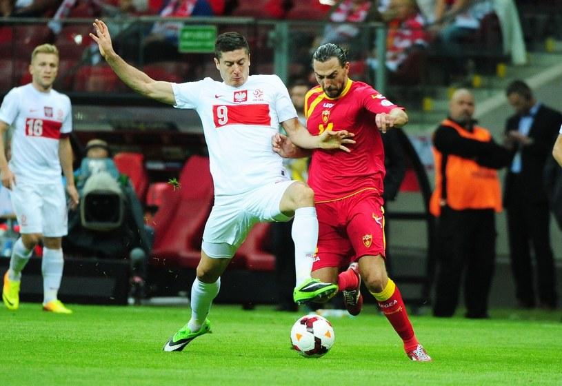 Kadr z meczu Polska - Czarnogóra w 2013 roku w el. do mistrzostw świata /Fot. Paweł Skraba /East News