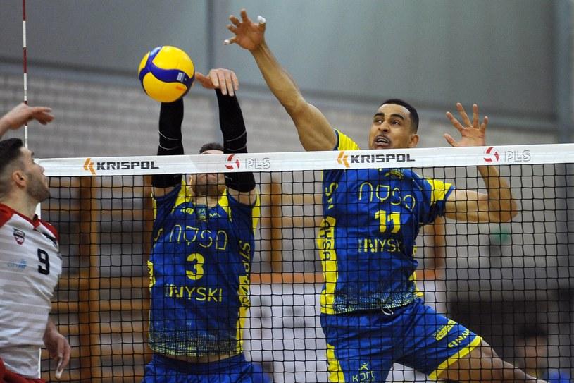 Kadr z meczu siatkarzy Stali Nysa /Krzysztof Porębski /Newspix