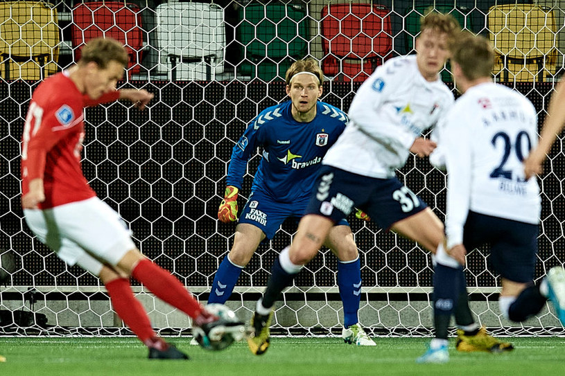 Kadr z meczu Silkeborg IF - AGF Arhus /Getty Images